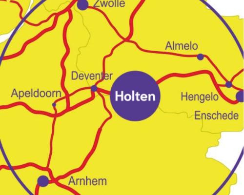 Holten ligt centraal in Oost Nederland.